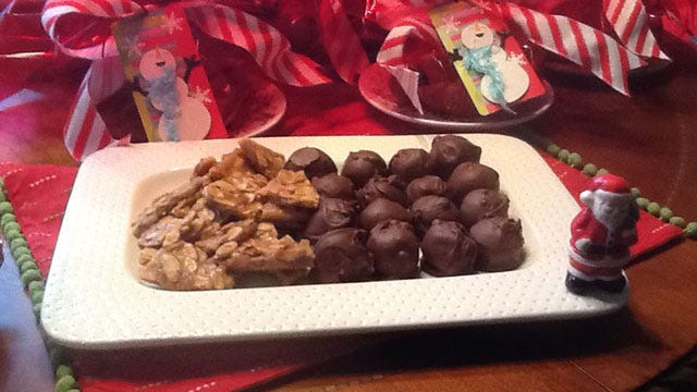 Amanda's Holiday Recipes: Peanut Butter Balls, Almond Brittle
