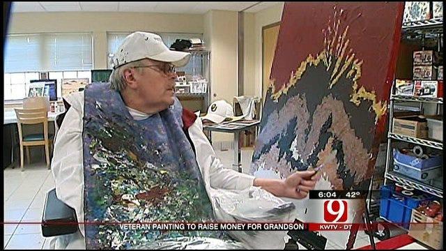 Norman Veteran Paints To Raise Money For Grandson's Heart Transplant