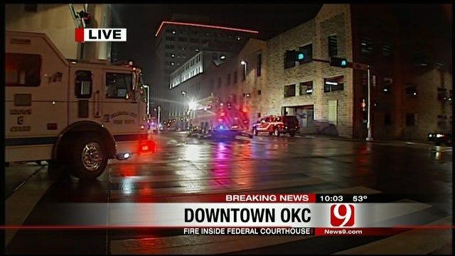 Crews Extinguish Fire At OKC Courthouse Parking Garage