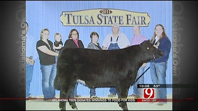 Oklahoma Teen Sells Steer, Donates Money To Food For Kids Program