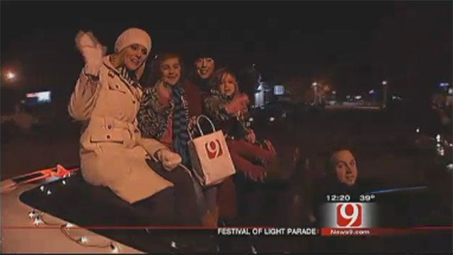Lauren, Christina Participate In Chickasha's Festival Of Light Parade