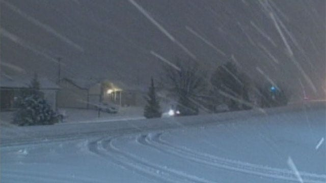 Panhandle Blizzard Winding Down, Chance Of Snow In Central Oklahoma