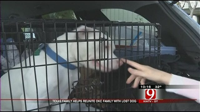 OKC Family Reunited With Lost Dog For Christmas