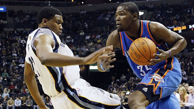 Durant Leads Thunder To 3-0 Start With Win At Memphis