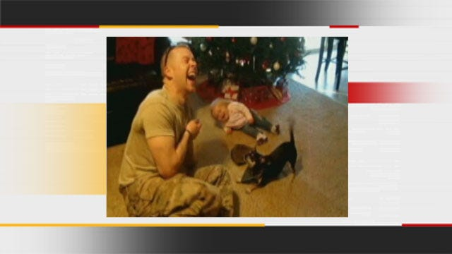 Oklahoma Soldier Shares A Laugh With Young Daughter