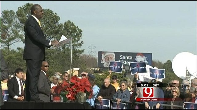 Cain To Stop In Oklahoma Despite Suspending Campaign
