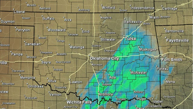 No Snow In Central Oklahoma, Flurries Falling In Southern Part Of State