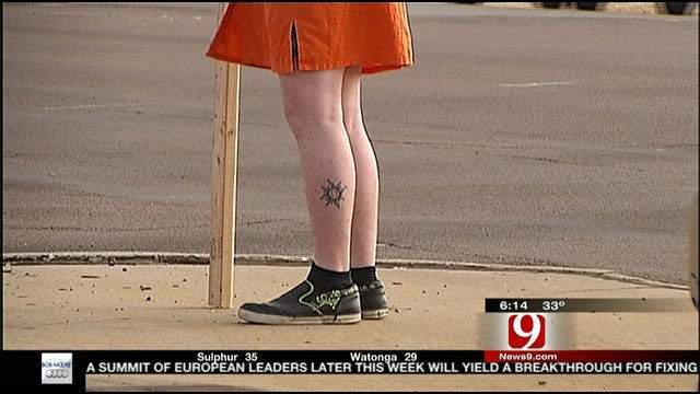 Oklahoma City Man Pays Up On Bedlam Bet Wearing A Dress