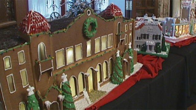 Gingerbread Landmarks Fill Oklahoma Governor's Mansion