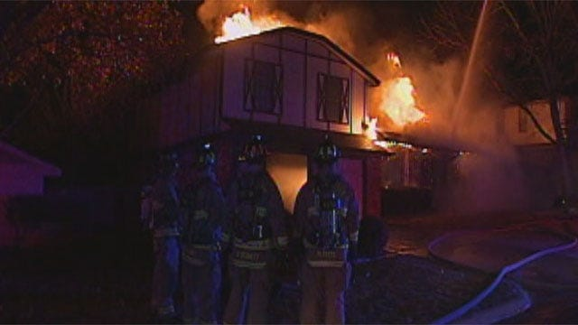 OKC Man Escapes Burning Home Through Window