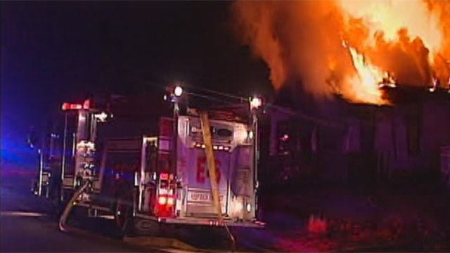 Large Fire Destroys Northeast OKC House