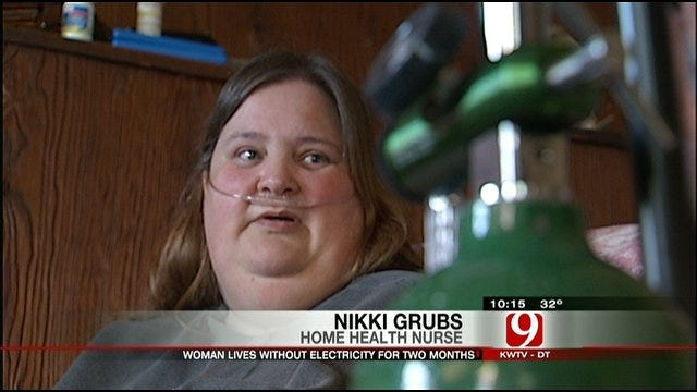 Electricity Restored To Woman On Oxygen--For Now