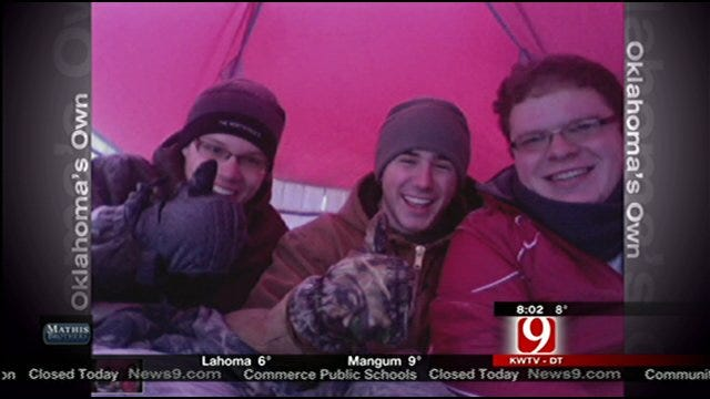 3 Oklahoma College Students Brave Winter Storm In Tent