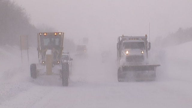 Roads Remain Slick, Hazardous As Crews Continue Clearing