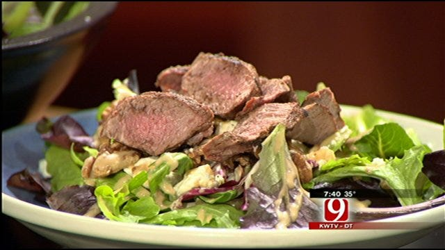 MIO: Steak Salad With Feta And Walnuts