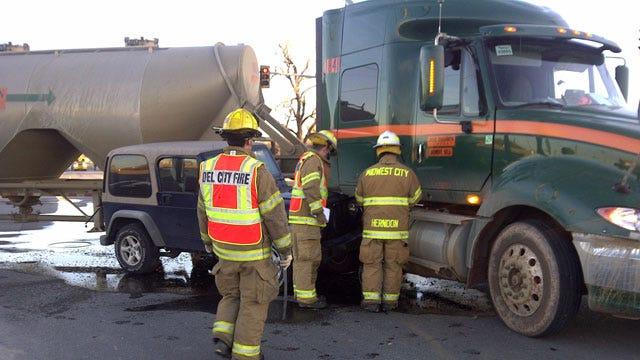 Fuel Leak Causes Traffic Tie-Ups In Del City