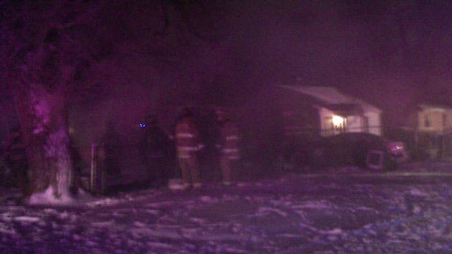 OKC Firefighters Battle Cold Temps To Fight House Fire