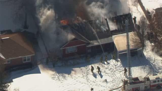 OKC Firefighters Battle Flames, Bitter Cold