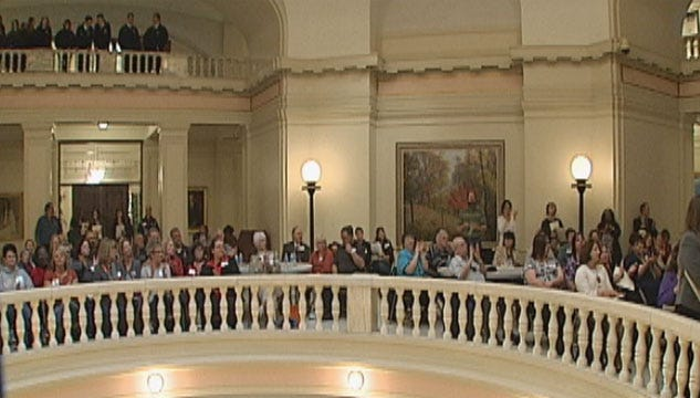 State Workers Rally At Capitol For Pension, Pay Raises