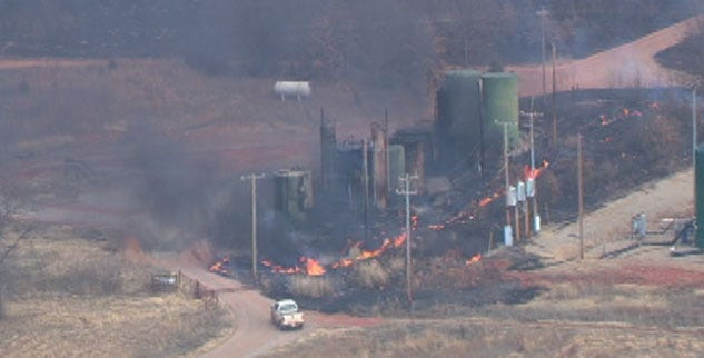 Winds Fuel Grassfire In Lincoln County