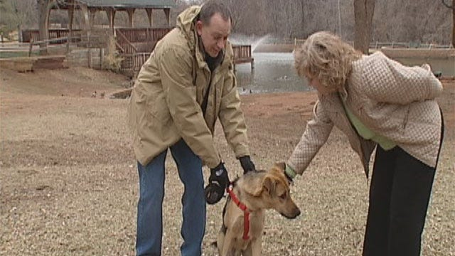 Edmond Family Adopts Dog Abandoned During Snowstorm