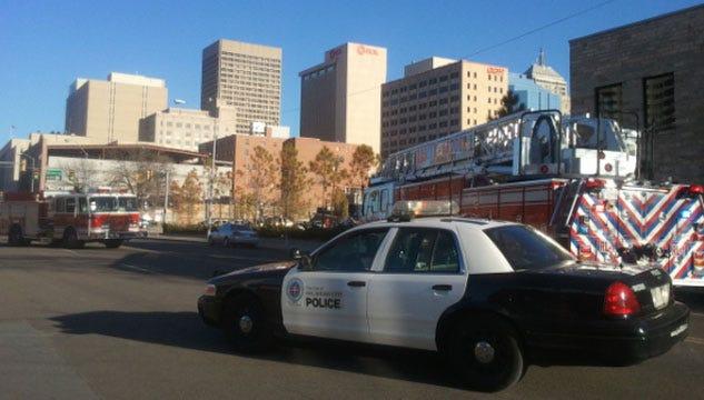 Police Arrest Threatening Man After Responding To Auto-Pedestrian Accident