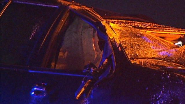 Man Taken To Hospital After Wreck At I-40, I-235 Interchange