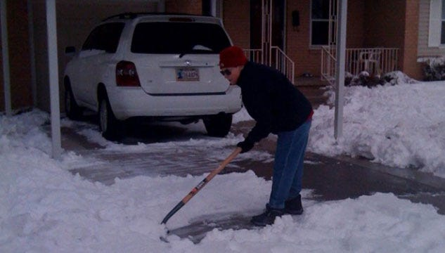 Neighbors Pitch In To Clear Snow