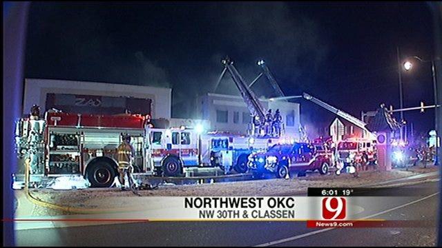 OKC Firefighters Battle New Year's Fire