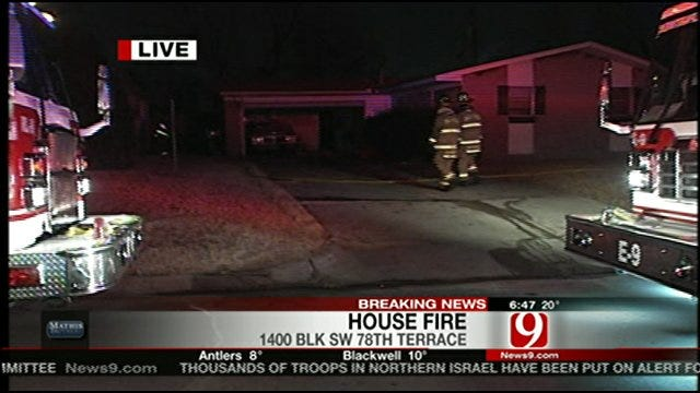 OKC Firefighters: Bathroom Heater Likely Sparked House Fire