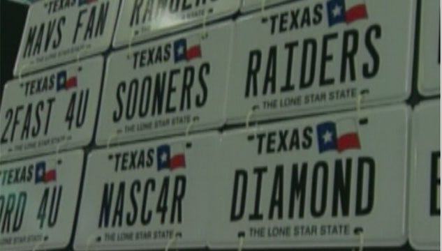 'Sooners' License Tag Brings In Several Thousand Dollars For Texas