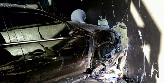 Driver Mistakenly Hits Gas, Smashes Into N.W. OKC Building