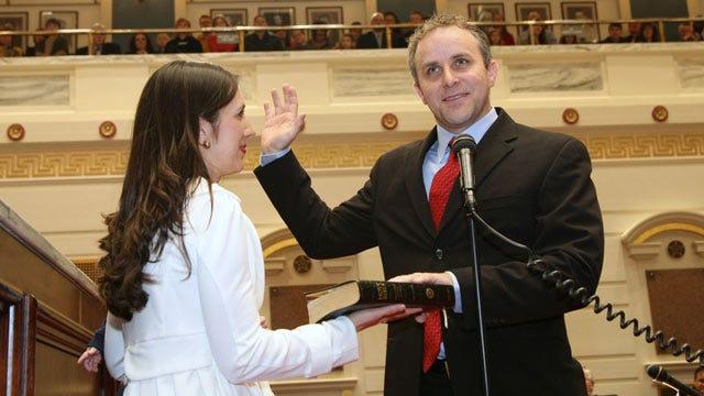 Oklahoma's Newest State Senator Takes Oath Of Office