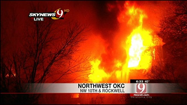 Large Fire Destroys Vacant Apartments In Northwest Oklahoma City