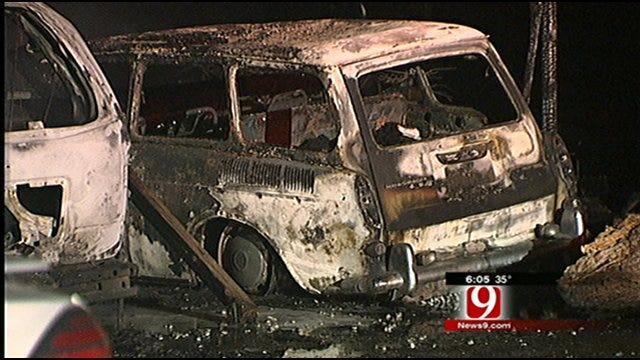 Fire In Norman Duplex That Damaged 4 Cars, Unit Possibly Arson