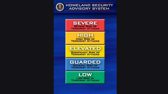 Homeland Security Getting Rid Of Color-Coded Terror Alert System