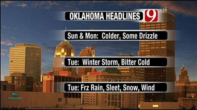Winter Storm To Bring End To Warm Weekend