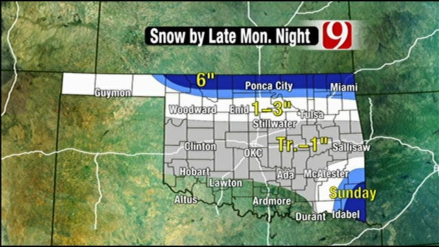 Wintery Mix To Blow In Early Monday
