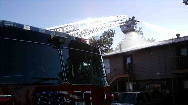 Bethany Firefighters Fight Fully-Involved Apartment Fire