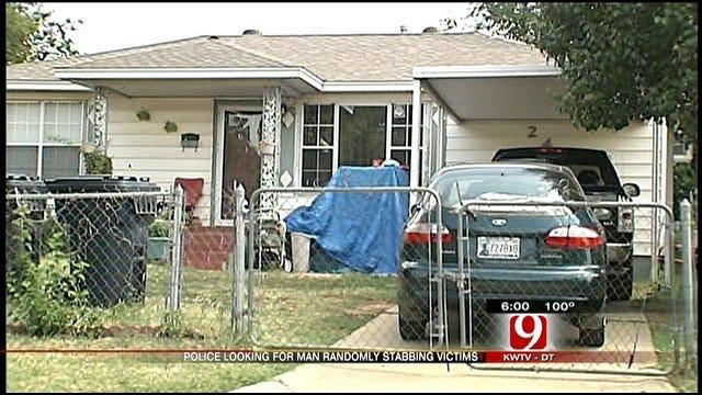 OKC Police Search For Man Randomly Stabbing Victims