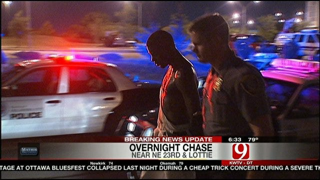 Suspect Jumps Out Of Moving Car In Oklahoma City