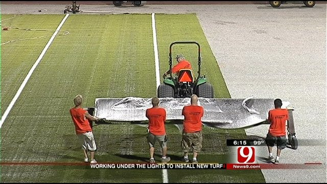 New Turf Goes Down In Moore Under Cover Of Darkness
