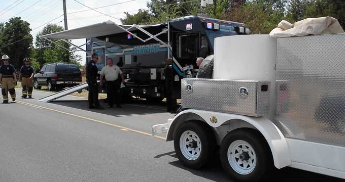 Bomb Squad Removes Mortar From Jones Home