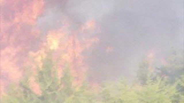 Four Departments Fight Grassfire In SW Oklahoma City