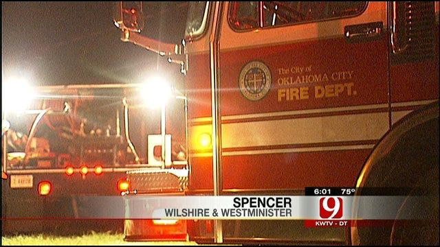 OKC Firefighter Treated For Heat Exhaustion In Spencer Fire