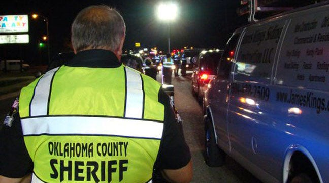 Oklahoma County Sheriff's Office Checkpoint Nets 16 Arrests
