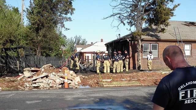 Fire Department Battles Garage Fire in NW OKC