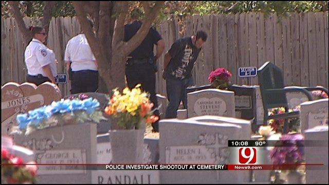Moore Cemetery Shootout Leaves Mangled Trucks, Toppled Headstones