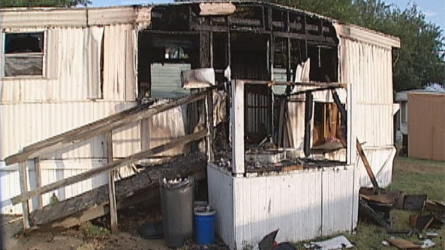 Man Burned In Oklahoma City Mobile Home Fire