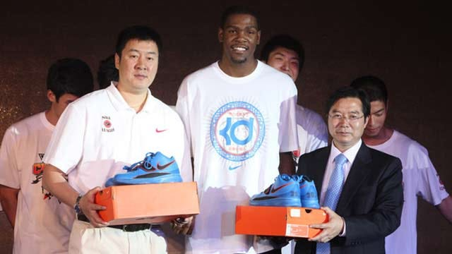 Kevin Durant Travels To China With Nike Basketball